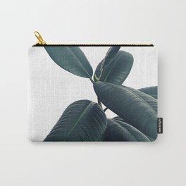 Ficus Elastica #16 #White #decor #art #society6 Carry-All Pouch