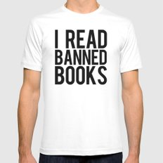 Banned Books REvised White MEDIUM Mens Fitted Tee