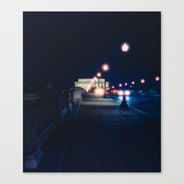 Memorial Bridge To Lincoln Memorial Canvas Print