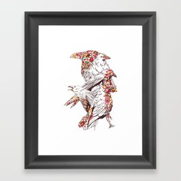 Colorful Crows Framed Art Print
