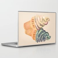 treat yo self Laptop & iPad Skins featuring Treat Yo' Self by Kanika Mathur Design