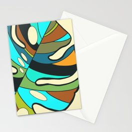 Monstera leaf painting Stationery Cards