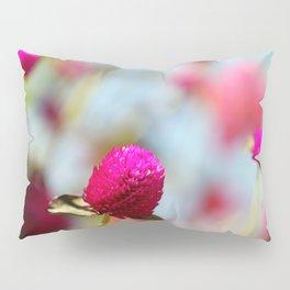 Hot Pink Puffs Pillow Sham