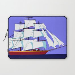 A Clipper Ship Full Sail in Still Waters Laptop Sleeve