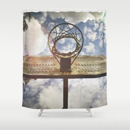 Hoosier Basketball Shower Curtain