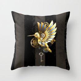 Mechanical Hummingbird Throw Pillow