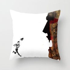 Blade vs the world Throw Pillow