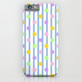 Pastel Dots and Stripes iPhone Case