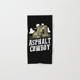 Asphalt Cowboy   Trucker Hand & Bath Towel