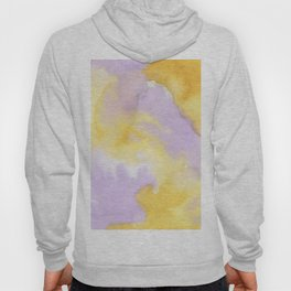Lilac lavender sunflower yellow abstract watercolor Hoody