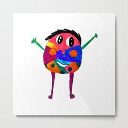 DooDoo Boy | Kids Painting by Elisavet Metal Print