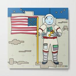Moon Astronaut 1969 Metal Print