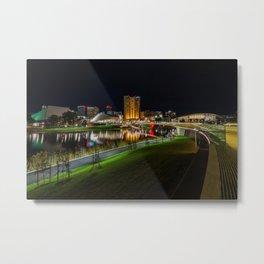 Adelaide Riverbank at Night III Metal Print