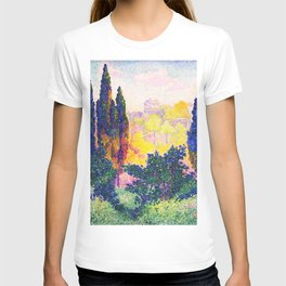 Henri Edmond Cross -The Cypresses In Cagnes - Digital Remastered Edition T-shirt