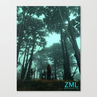 uncharted Canvas Prints featuring Uncharted by ZML Zealous Modern Living