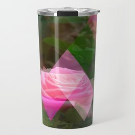 Pink Roses in Anzures 5 Art Triangles 1 Travel Mug