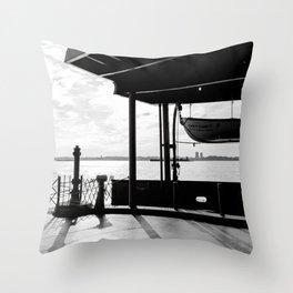 Staten Island Ferry (Silhouette) Throw Pillow