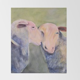 Sheep Animal Art Throw Blanket