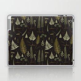 Fern pattern black Laptop & iPad Skin