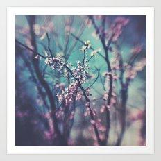 Paint Me Pink &Blue Art Print