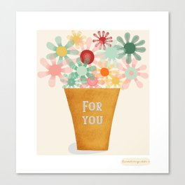 For you - Postcard / Illustrations Canvas Print
