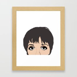 Liza With A Z drawing Framed Art Print