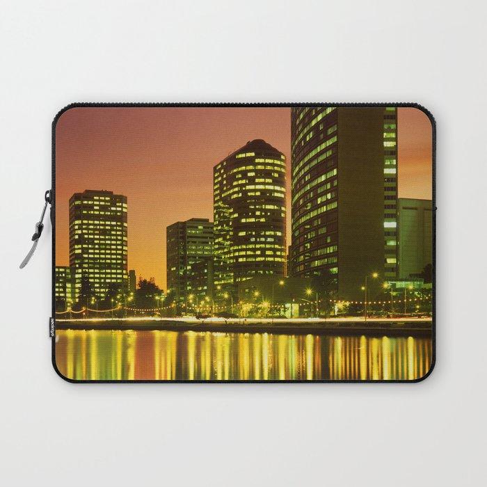 Lake Merritt and Downtown Oakland in Golden Sunset Laptop Sleeve