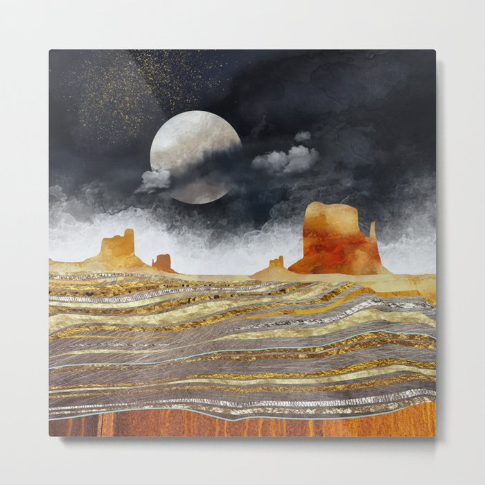 Metallic Desert Metal Print