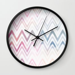 Chevron Watercolor Pattern Wall Clock