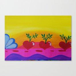 You make my heart thump Canvas Print
