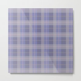 AFE Purple Plaid Pattern Metal Print