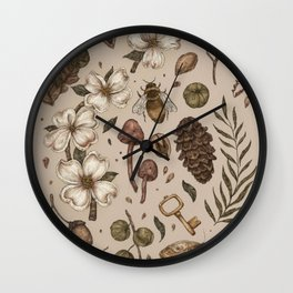Nature Walks (Light Background) Wall Clock