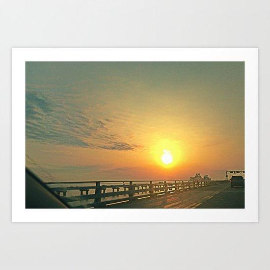 Ride Toward the Sun Art Print