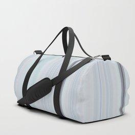 Mint Grey Vertical  Lines Duffle Bag