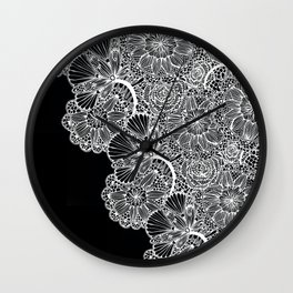 lace inspired Wall Clock