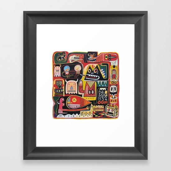 Mutant pop corn Framed Art Print