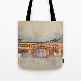 Firenze, Ponte Vecchio Tote Bag