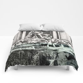 Trevi Fountain Rome Italy Comforters