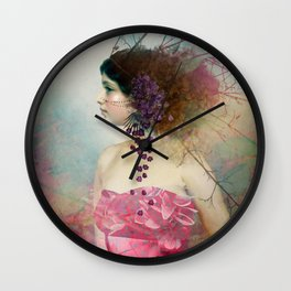 Portrait in Pastell 2 Wall Clock