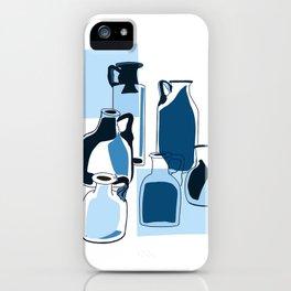 Blue vintage glass bottles  iPhone Case