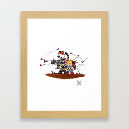 Calvin and Hobbes Inspired Hero Parody Framed Art Print