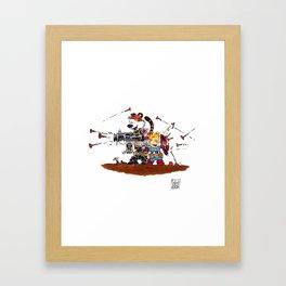 Calvin and Hobbes Inspired Hero Parody Framed Art Print