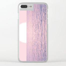 Pink on the Sea Clear iPhone Case