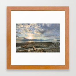 Walk Along the Beach Framed Art Print