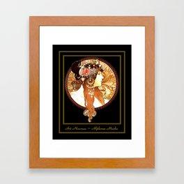 Art Nouveau Cameo No. 1 Framed Art Print