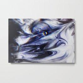 Liquid Obsidian Metal Print
