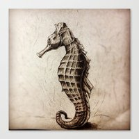 seahorse Canvas Prints featuring Seahorse by Werk of Art