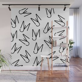 Jeff Martin - Repeating - White Wall Mural