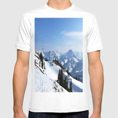 Winter Paradise in Austria MEDIUM White Mens Fitted Tee