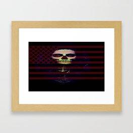 U.S.A SKULL Laptop sleave Framed Art Print